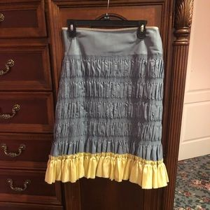 Anthropology beautiful skirt great details size 6